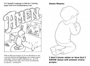 Coloring page for bulletin insert