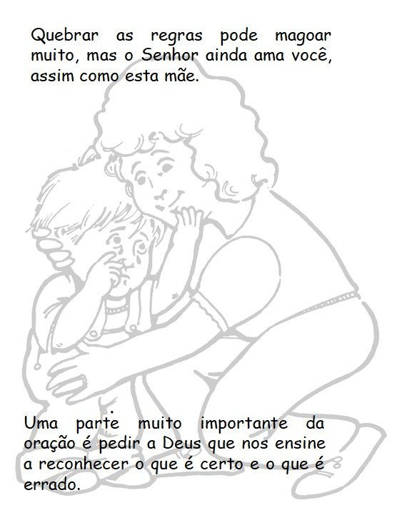 Prayer lessons just for kids in Portuguese