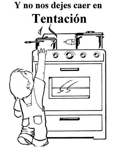 Teaching children the Lord's prayer in spanish