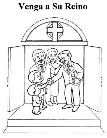 Oración del Señor de colorear para niños