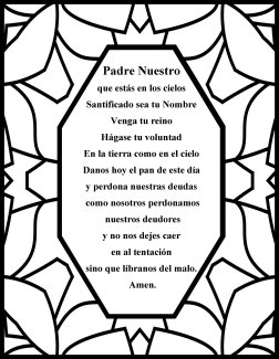 The Lord's prayer Spanish